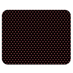 Colored Circle Red Black Double Sided Flano Blanket (Medium)