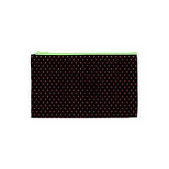 Colored Circle Red Black Cosmetic Bag (XS)
