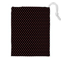 Colored Circle Red Black Drawstring Pouches (XXL)