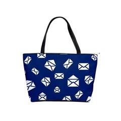 Envelope Letter Sand Blue White Masage Shoulder Handbags