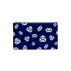 Envelope Letter Sand Blue White Masage Cosmetic Bag (Small)