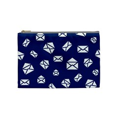 Envelope Letter Sand Blue White Masage Cosmetic Bag (Medium)