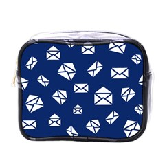 Envelope Letter Sand Blue White Masage Mini Toiletries Bags
