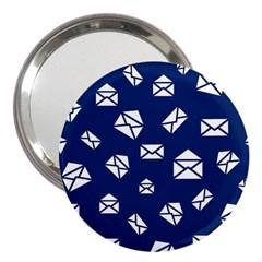 Envelope Letter Sand Blue White Masage 3  Handbag Mirrors