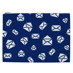 Envelope Letter Sand Blue White Masage Cosmetic Bag (XXL)