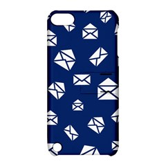Envelope Letter Sand Blue White Masage Apple iPod Touch 5 Hardshell Case with Stand
