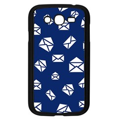 Envelope Letter Sand Blue White Masage Samsung Galaxy Grand DUOS I9082 Case (Black)