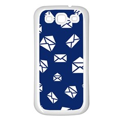 Envelope Letter Sand Blue White Masage Samsung Galaxy S3 Back Case (white)