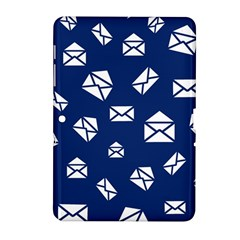 Envelope Letter Sand Blue White Masage Samsung Galaxy Tab 2 (10.1 ) P5100 Hardshell Case