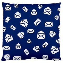 Envelope Letter Sand Blue White Masage Large Flano Cushion Case (One Side)