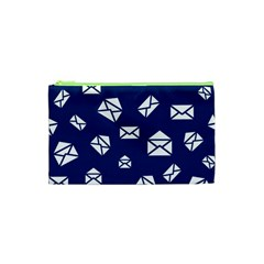 Envelope Letter Sand Blue White Masage Cosmetic Bag (XS)