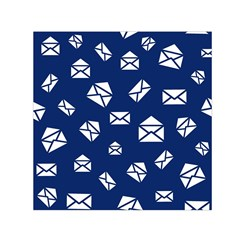 Envelope Letter Sand Blue White Masage Small Satin Scarf (Square)