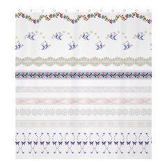 Bird Fly Butterfly Flower Floral Rose Blue Red Pink Shower Curtain 66  X 72  (large)