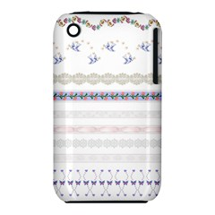 Bird Fly Butterfly Flower Floral Rose Blue Red Pink iPhone 3S/3GS