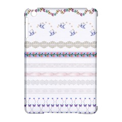 Bird Fly Butterfly Flower Floral Rose Blue Red Pink Apple iPad Mini Hardshell Case (Compatible with Smart Cover)
