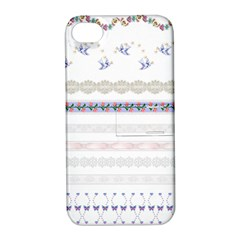 Bird Fly Butterfly Flower Floral Rose Blue Red Pink Apple iPhone 4/4S Hardshell Case with Stand