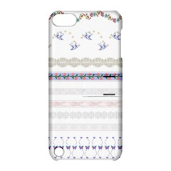Bird Fly Butterfly Flower Floral Rose Blue Red Pink Apple iPod Touch 5 Hardshell Case with Stand