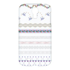 Bird Fly Butterfly Flower Floral Rose Blue Red Pink Samsung Galaxy S4 I9500/I9505 Hardshell Case