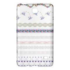 Bird Fly Butterfly Flower Floral Rose Blue Red Pink Samsung Galaxy Tab 4 (7 ) Hardshell Case