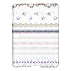 Bird Fly Butterfly Flower Floral Rose Blue Red Pink Samsung Galaxy Tab S (10.5 ) Hardshell Case