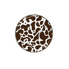 Dalmantion Skin Cow Brown White Hat Clip Ball Marker (10 pack)