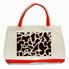 Dalmantion Skin Cow Brown White Classic Tote Bag (Red)