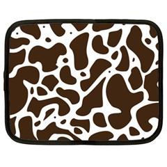 Dalmantion Skin Cow Brown White Netbook Case (XXL)