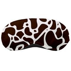 Dalmantion Skin Cow Brown White Sleeping Masks