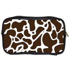 Dalmantion Skin Cow Brown White Toiletries Bags