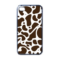 Dalmantion Skin Cow Brown White Apple iPhone 4 Case (Black)