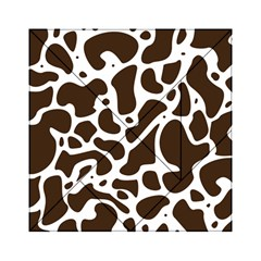Dalmantion Skin Cow Brown White Acrylic Tangram Puzzle (6  x 6 )