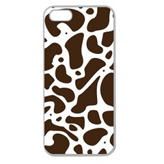 Dalmantion Skin Cow Brown White Apple Seamless iPhone 5 Case (Clear)