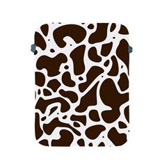 Dalmantion Skin Cow Brown White Apple Ipad 2/3/4 Protective Soft Cases