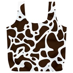 Dalmantion Skin Cow Brown White Full Print Recycle Bags (L)