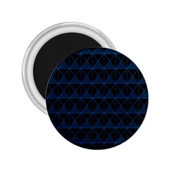 Colored Line Light Triangle Plaid Blue Black 2.25  Magnets
