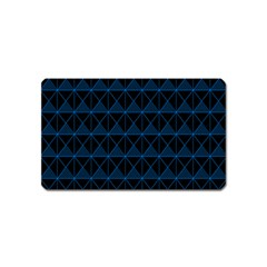 Colored Line Light Triangle Plaid Blue Black Magnet (name Card)