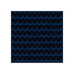 Colored Line Light Triangle Plaid Blue Black Acrylic Tangram Puzzle (4  X 4 )