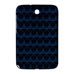 Colored Line Light Triangle Plaid Blue Black Samsung Galaxy Note 8.0 N5100 Hardshell Case