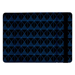 Colored Line Light Triangle Plaid Blue Black Samsung Galaxy Tab Pro 12.2  Flip Case