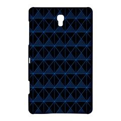 Colored Line Light Triangle Plaid Blue Black Samsung Galaxy Tab S (8.4 ) Hardshell Case