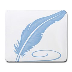 Feather Pen Blue Light Large Mousepads