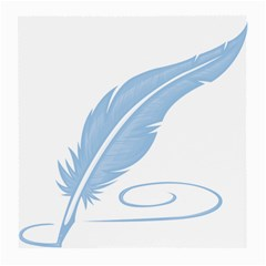 Feather Pen Blue Light Medium Glasses Cloth (2-Side)