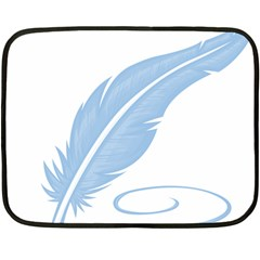Feather Pen Blue Light Double Sided Fleece Blanket (Mini)