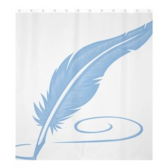 Feather Pen Blue Light Shower Curtain 66  x 72  (Large)