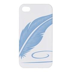 Feather Pen Blue Light Apple iPhone 4/4S Hardshell Case
