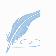 Feather Pen Blue Light Small Garden Flag (Two Sides)