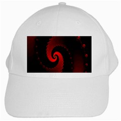 Red Fractal Spiral White Cap