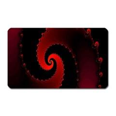 Red Fractal Spiral Magnet (rectangular)