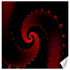 Red Fractal Spiral Canvas 12  X 12