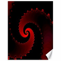Red Fractal Spiral Canvas 18  X 24